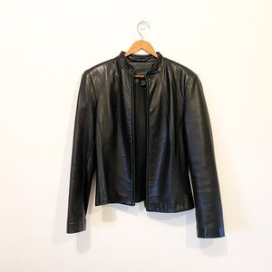 Danier Vintage 90s Real Leather Cropped Jacket M